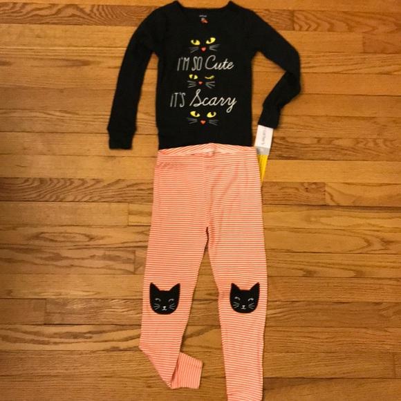 girls carters halloween pajama set